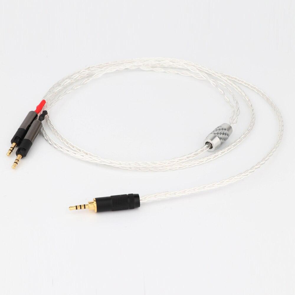 Prefair-Cable de auriculares Chapado en plata, 8 núcleos, E506Y, 4,4mm/2,5mm a 2,5mm,...
