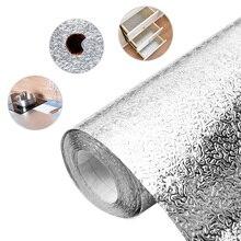 3M/5M/10M Aluminiumfolie Keuken Behang Waterdichte Zelfklevende Behang Sticker Zelfklevend Papier Voor meubels