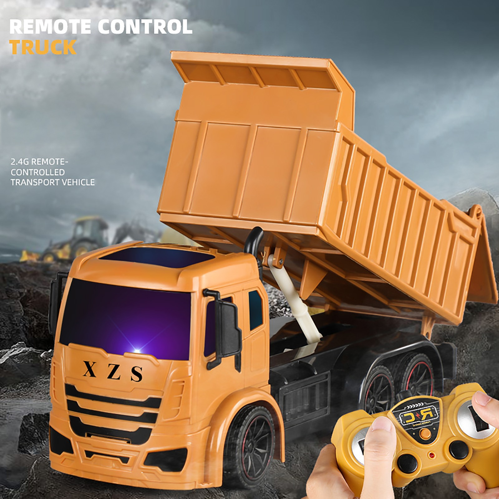 Super Power Rc Car Tipper Dump Truck Model Remote Control Alloy Engineering Vehicle Beach Toys Kids