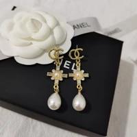 womens pendant earrings cross earrings pendant earrings jewelry modern womens earrings diamond exquisite gifts 2021
