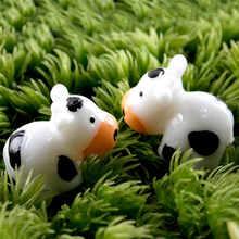 Полимерные поделки бонсай, Террариум, садовые аксессуары, домашний декор, 2 шт., Симпатичные Мини DIY, молочная корова, миниатюрные феи, украше...