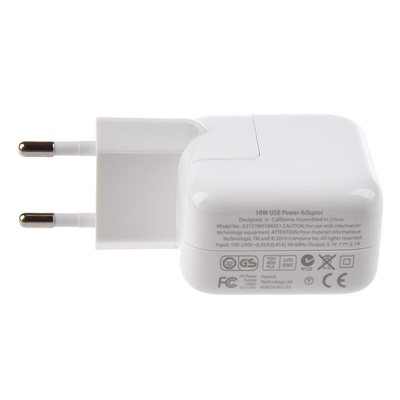 Adaptadores de cargador blanco estándares europeos para iPad / iPhone / iPod / Smartphones 2.1A