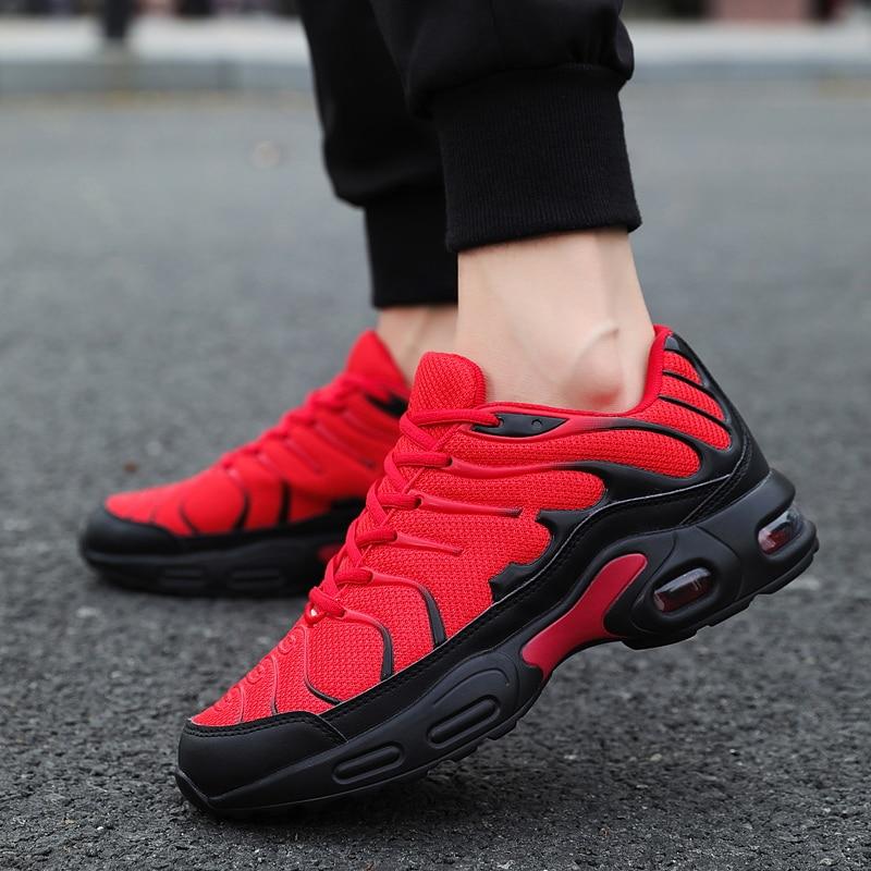 Hot Sale Men's Casual Shoes 2020 Anti-slip Cushioning Male Red Sneakers Four Season Outdoor Flat Men Walking Shoes Big Size39-47
