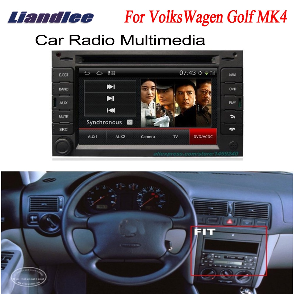 Liandlee para VolksWagen VW Golf MK4 2003 ~ 2004 2 din Android GPS de navegación Android navi ODB2 mapas CD DVD reproductor de radio
