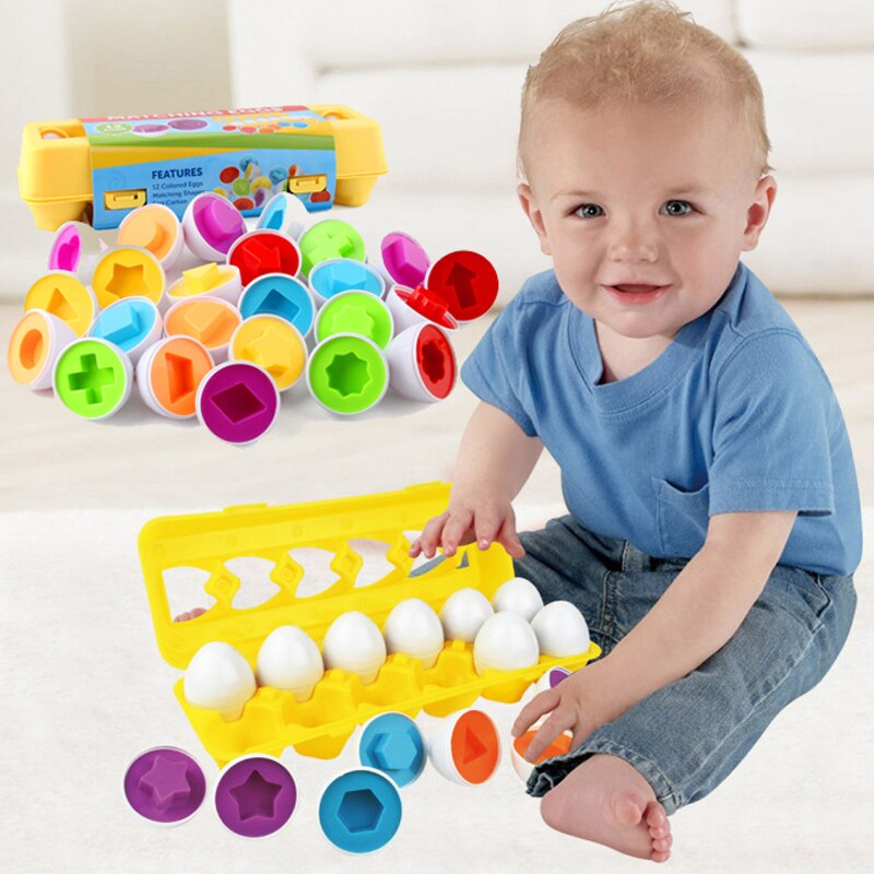 12PCS Montessori Learning Education Math Toys Kids Match Smart Eggs Screws 3D Puzzle Game For Children Educational Toys topological game tower of hanoi iq intelligence developer 3d puzzle natural wood math game montessori montessori toys children s toys educational toys children toys montessori toys for children fidget toys