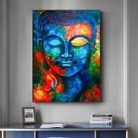 modern buddhism posters and prints wall art canvas painting wall decoration lord pictures for living room wall frameless