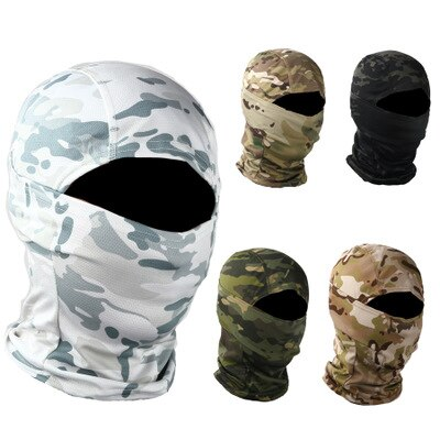2 piezas ejército militar camuflaje táctico capucha bicicleta máscara arena prevención diadema anti-terror bufanda bandana
