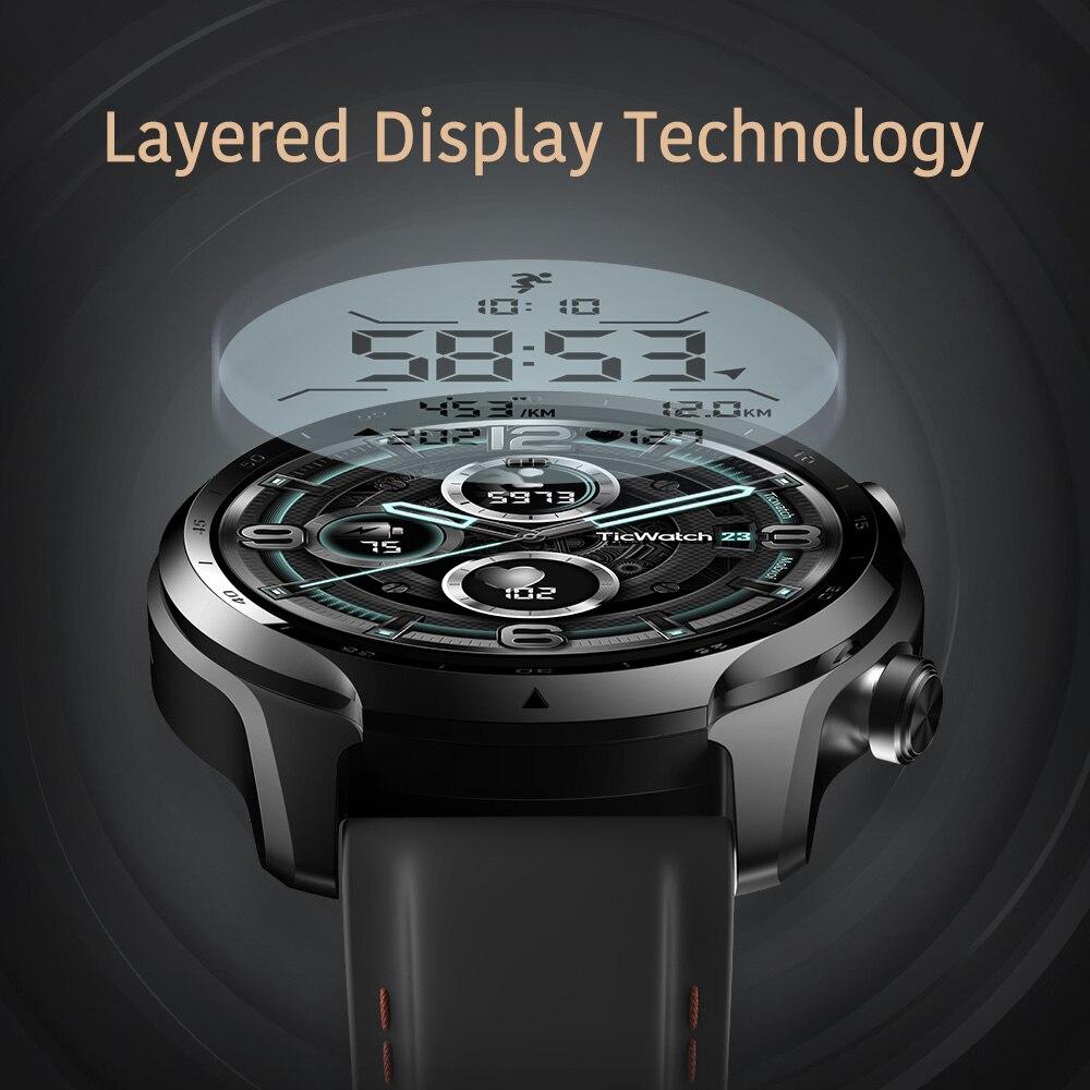 CHYCET جديد GPS Smartwatch الرجال الرياضة النساء ساعة ذكية المزدوج طبقة عرض Snapdragon ارتداء 4100 8 جيجابايت 3 إلى 45 أيام بطارية