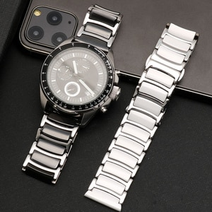 Ceramic between stainless steel watchband for Huawei Smart Watch GT2/watch 2pro/Samsung watch band Quick release strap 20mm 22mm