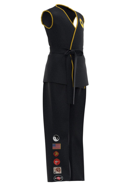 Karate Kid Cobra Kai Cosplay Costume Kids Top Pants Outfits Halloween Carnival Suit