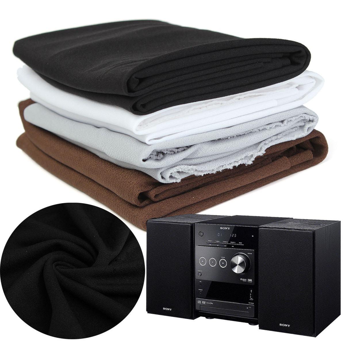 Buena calidad altavoz de Radio tela de rejilla de protección estéreo negro altavoz de tela de malla gruesa 1,6x0,5 m
