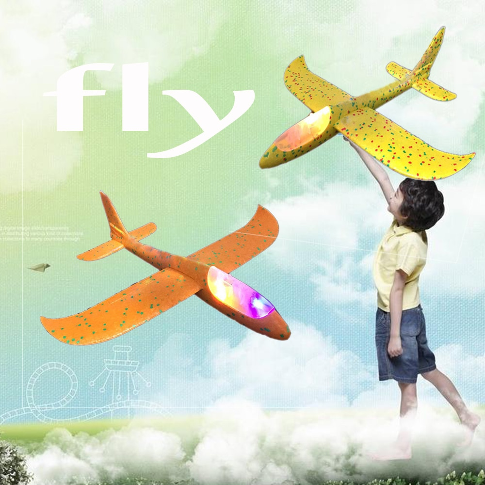 Avión de mano EPP espuma al aire libre deslizador de lanzamiento avión niños juguetes 48 cm interesante lanzamiento inercial modelo regalo divertido