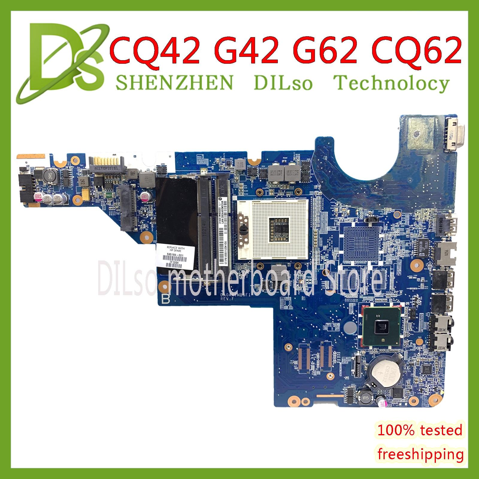 KEFU CQ62 para tarjeta madre para HP CQ42 G42 G62 CQ62 placa base de computadora portátil DAOAX1MB6F0 DA0AX1MB6H0 100% original