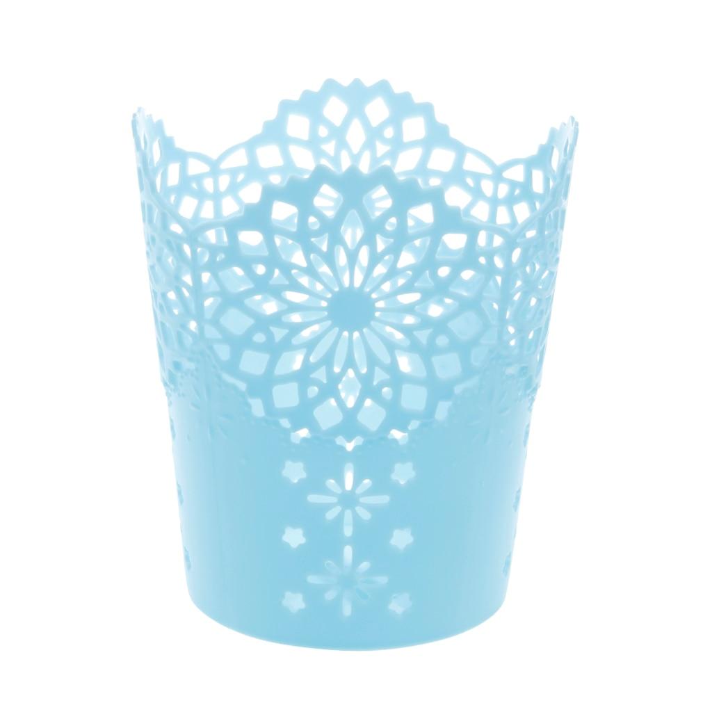 2020 nova Flor Oco Lápis Caneta De Armazenamento Escova Pot Titular Container Organizador de Mesa Presente