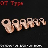 ot type ot 600a ot 800a ot 1000a wire terminal red copper bare nose lugs crimp open mouth cable end connector splice