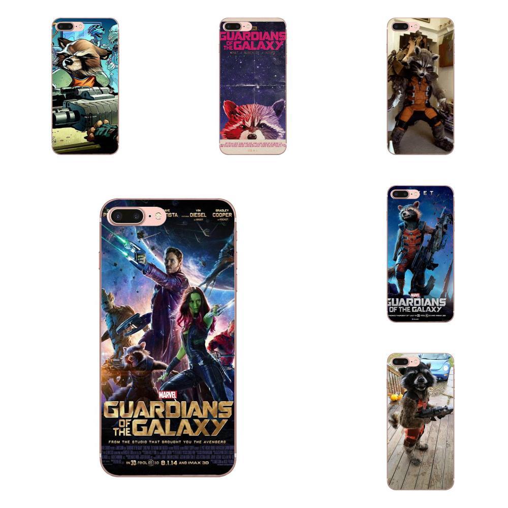 Rocket Raccoon de guardianes de la Galaxia Para Xiaomi Redmi 3S 3S 4 4A 4X 5 6 6A 7 K20 nota 2 3 4 5 5A 6 7 Plus Pro de la cubierta del TPU del casos