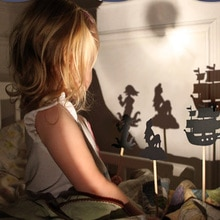 Enfants conte de fées histoire ombre marionnettes Imagination jouets éducatifs pour enfants jeu interactif Projection Art jeux coffret cadeau