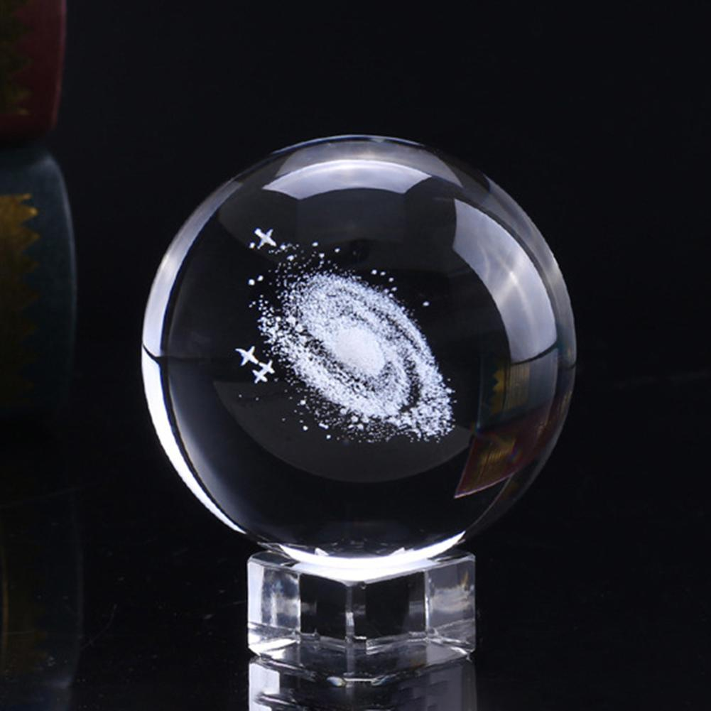 60 мм Млечный Путь хрустальный шар Глобус галактика 3D лазерная гравировка стекло Миниатюрная модель кристалл ремесло Сфера орнамент Глобус стекло для дома