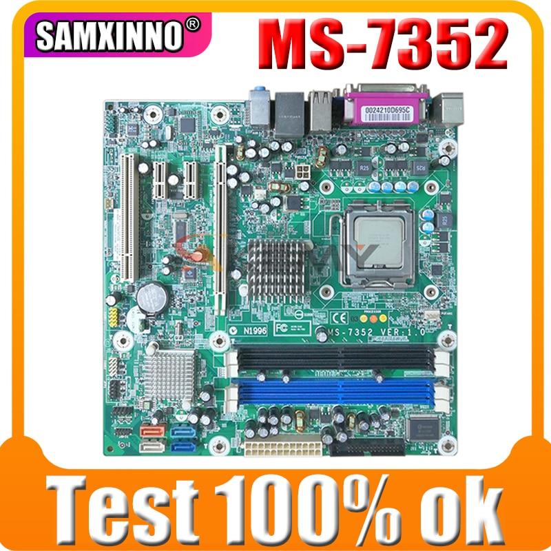 Akemy الأصلي ل HP DX7400 MS-7352 سطح المكتب اللوحة 480909-001 447400-003 DDR2 MB 100% اختبار سريع السفينة