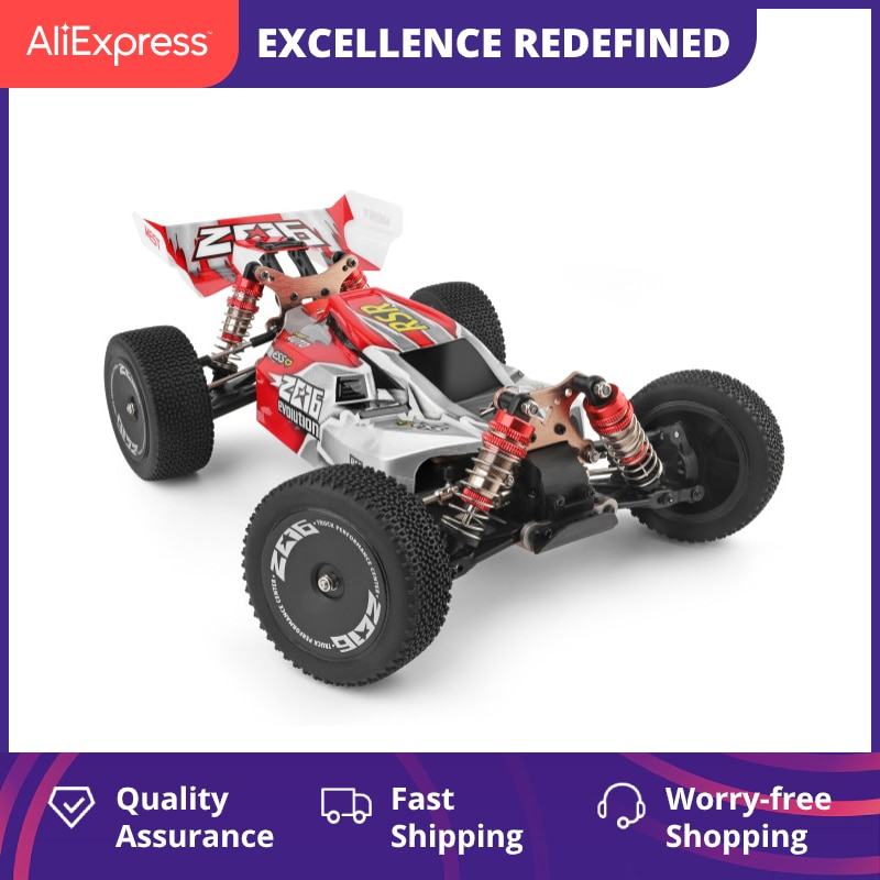 WLtoys 144001 2.4G Racing RC Car Competition 60 km/h Metal Chassis 4wd Electric RC Formula Car Remot