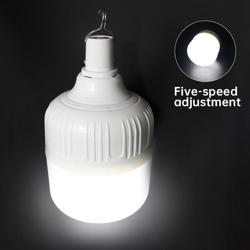 Уличная лампа, светодиодное аварийное освещение с зарядкой от USB, переносной светильник для палаток с аккумулятором, фонарь для барбекю, кем...