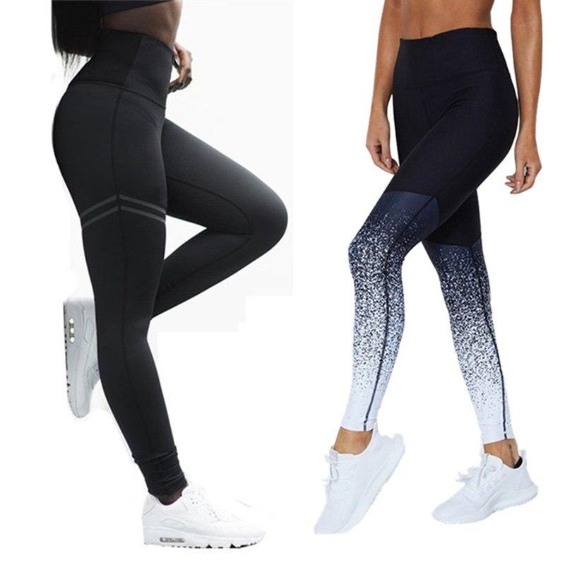 Mallas para mujer para Fitness ropa de entrenamiento de cintura alta mallas para correr pantalones de gimnasio mallas sin costura Pantalones deportivos apretados transpirables S-XL
