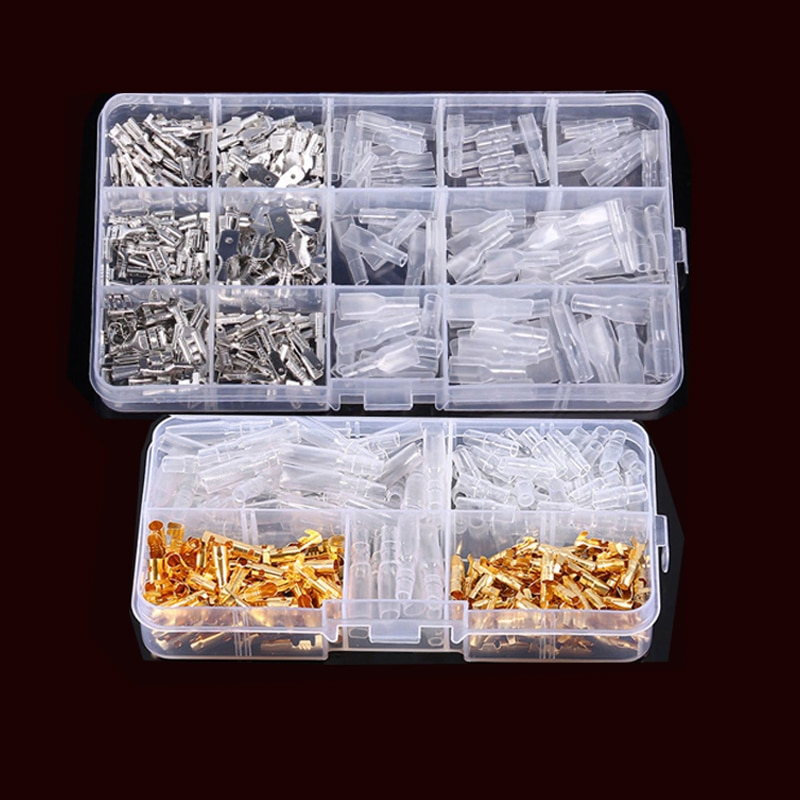 3.5mm Bullet Terminals Electrical Crimp Terminator,Male Female bullet Terminals,Female socket and sleeve Wire Connector Kit