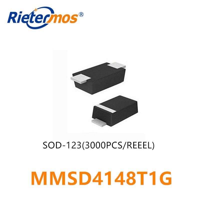 3000 قطعة MMSD4148T1G MMSD4148 SOD123 عالية الجودة