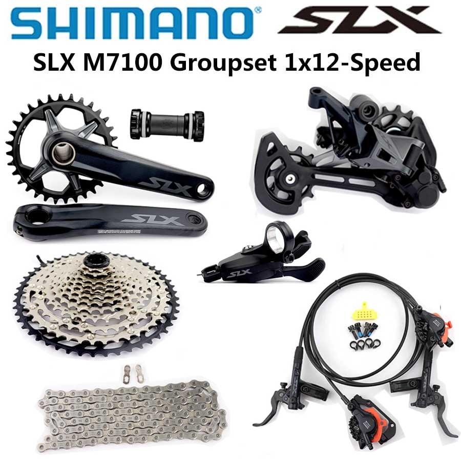 Набор Велосипедов SHIMANO SLX M7100, 12 скоростей, 32T 34T 170 175 мм, 1x12 скоростей, 10-45T 10-51T M7100