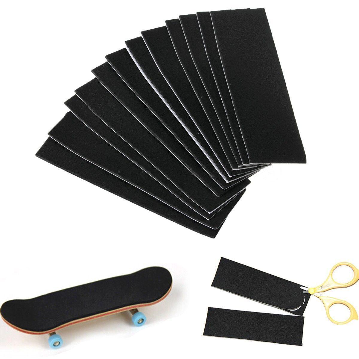 "Lote de 12 unidades de cinta antideslizante para agarre de papel de lija sin cortar con diapasón de madera, 110X3, 5mm/4,33 ""x 1,38"", de espuma para monopatín"