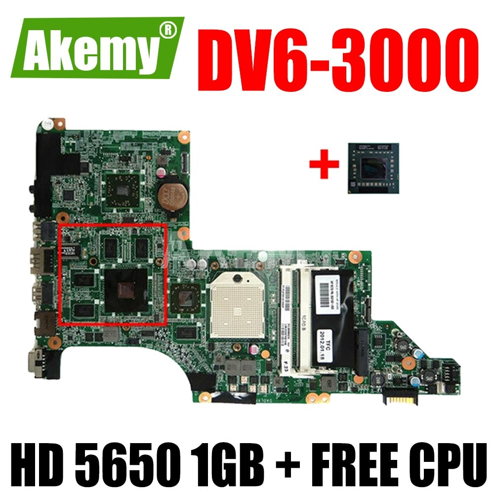 ERILLES NEW-MB ، 603939-001 DA0LX8MB6D1 DV6-3000 Mainboard لجهاز HP PAVILION DV6 DV6-3000 LAPTOP MOTHERBOARD ، HD 5650 1GB + وحدة معالجة مركزية مجانية