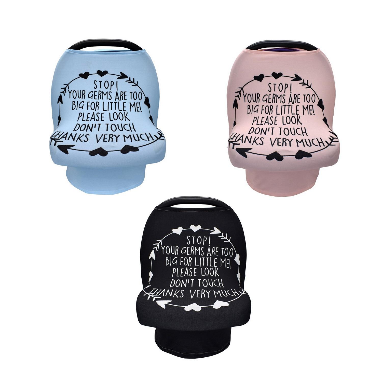 Funda elástica multifuncional para lactancia de bebés y bebés, funda para lactancia, cubierta para asiento de coche, cubierta para carro de compras sin signo táctil