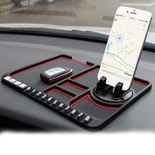 Car Anti-Slip Mat Pad Auto Silicone Phone Holder Stand Non Slip Sticky Anti Slide Dashboard GPS Mount Bracket Parking Card