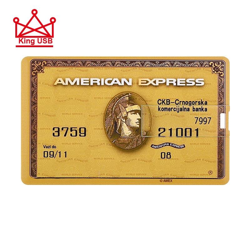 Amerian Express Credit Card HSBC Visa Standard Chartered Master card USB Flash Pen drive 64GB 32GB 16GB 8GB memory card stick