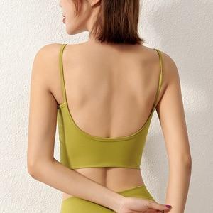 New Products Big U Beauty Back Sling Yoga Bra Dance Bra Fitness Sleep Top Solid Color Sports Underwear Women