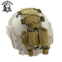 sinairsoft tactical military helmet cover battery pouch mk2 battery pack helmet counterweight pack airsoft hunting helmet