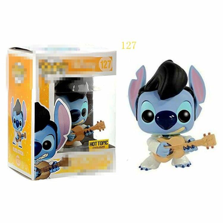 Funko pop disney tema quente elvis ponto vinil figuras de ação coleção modelo brinquedos para crianças