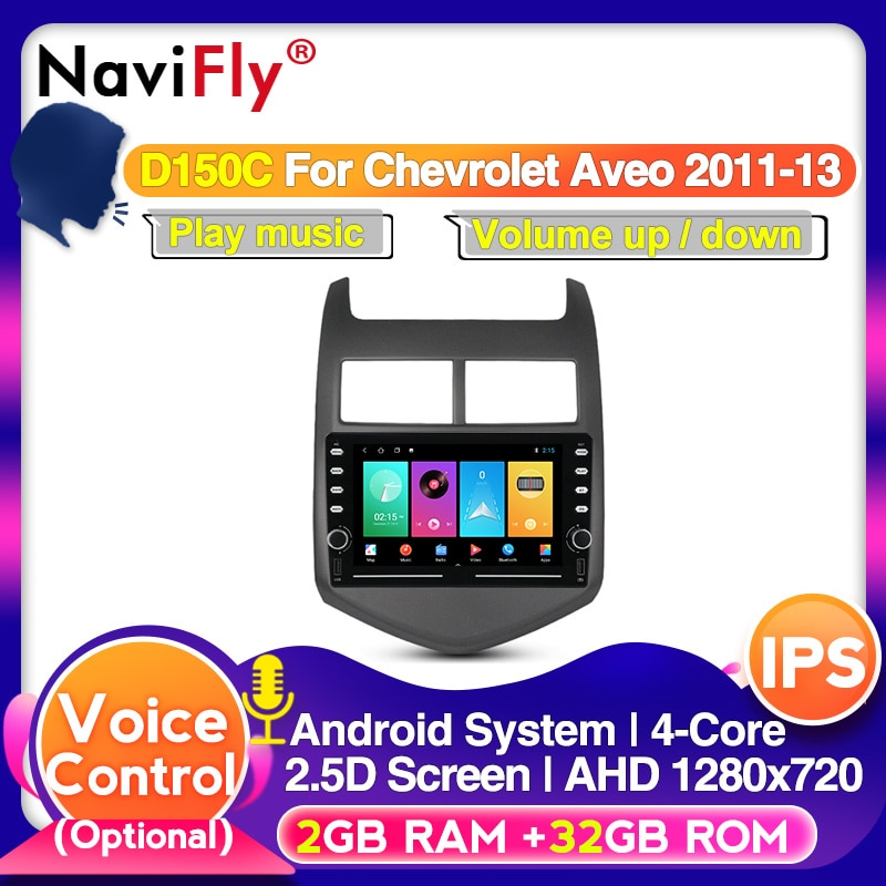 Navifly 4G + 64G Android автомобильный gps навигационный мультимедийный плеер для Chevrolet Aveo Sonic 2011-2015 Автомобильный Радио Видео плеер
