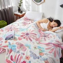 120x200/150x200/180x200/200x230cm soft printed coral fleece blanket sofa towel cover bedspread bed sheet throw blanket adult