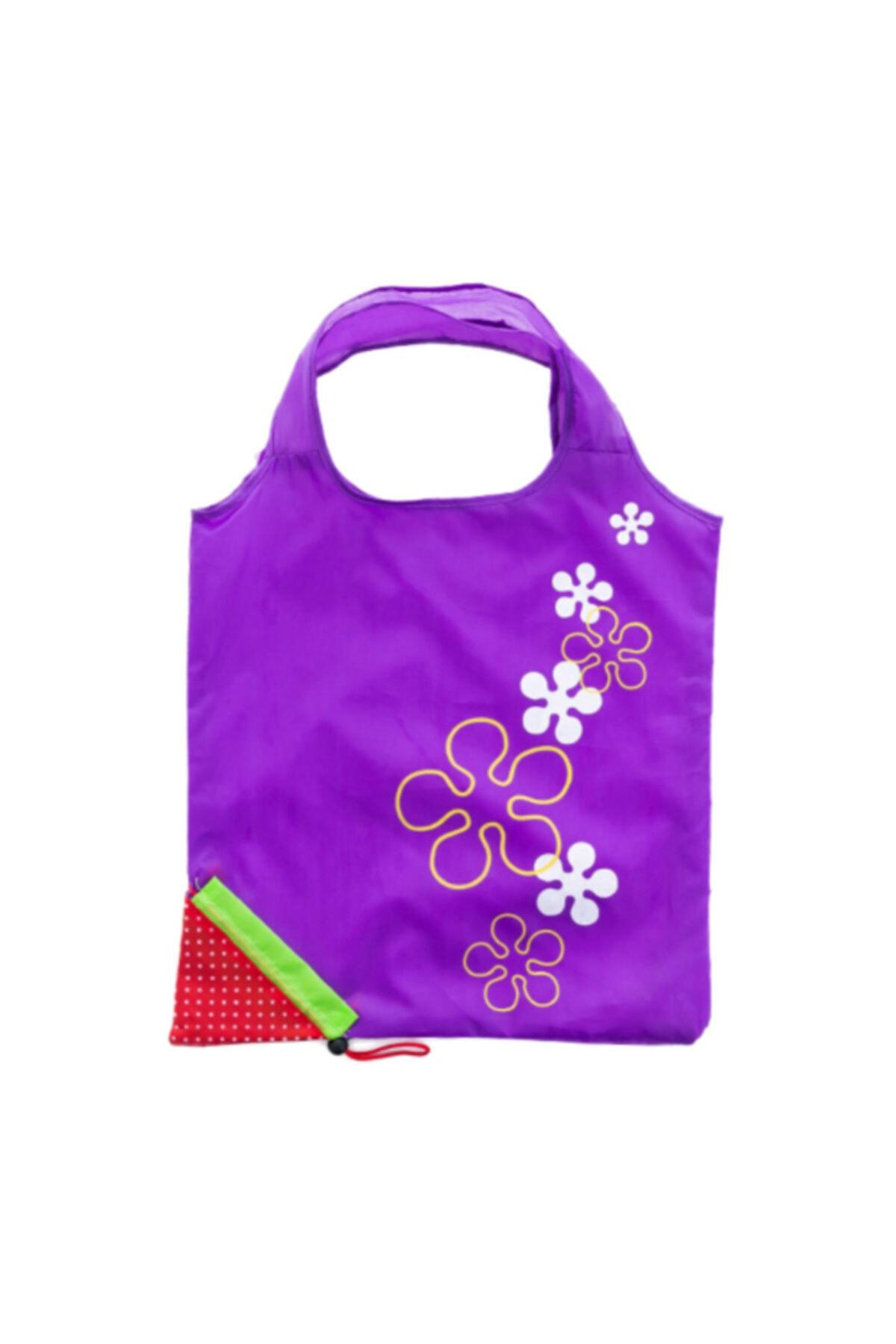 5 шт. Клубника Складная Сумка-тоут Рынок покупок Рынок с мешочком; Скручивающиеся фиолетовый мешок
