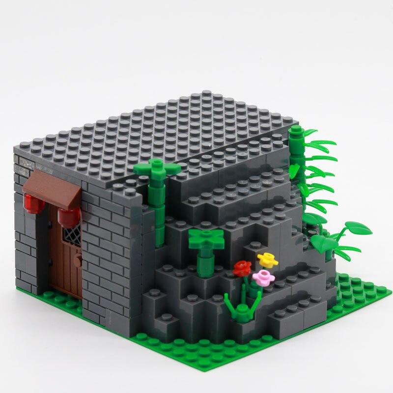 Городской строительный блок, уличный вид, собранный камень, светильник, домик, маленький строительный блок, игрушки для детей