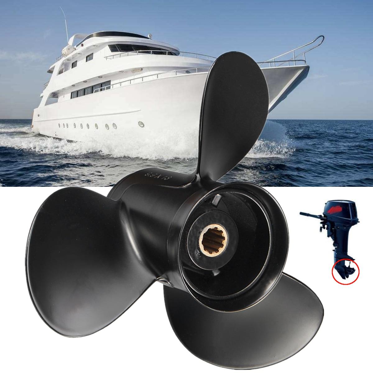48-19640a40 hélice de popa do barco da liga de alumínio 9.9x13 mariner para o motor de mercúrio 25-30hp preto 13 dente spline 3 lâminas