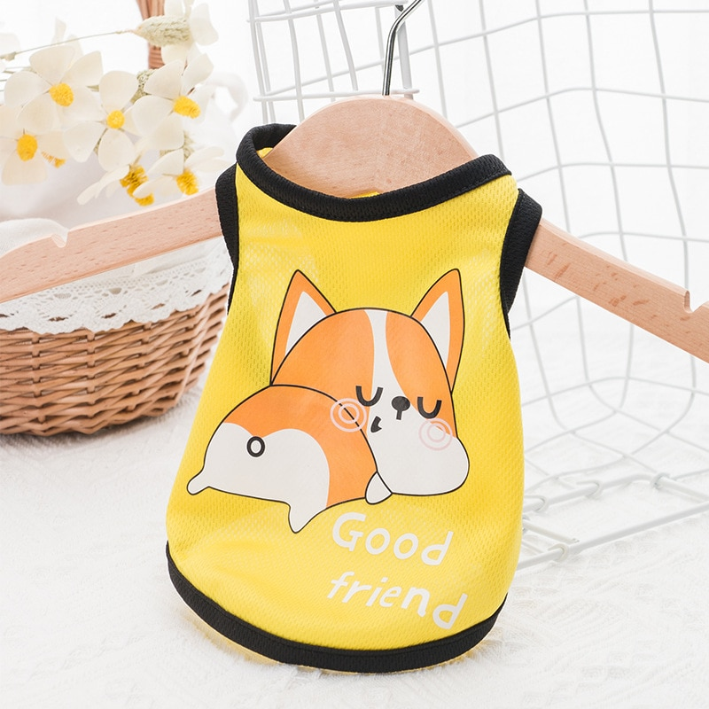 Dog clothes summer thin vest cat sling puppy spring breathable pet dog tshirts cotton