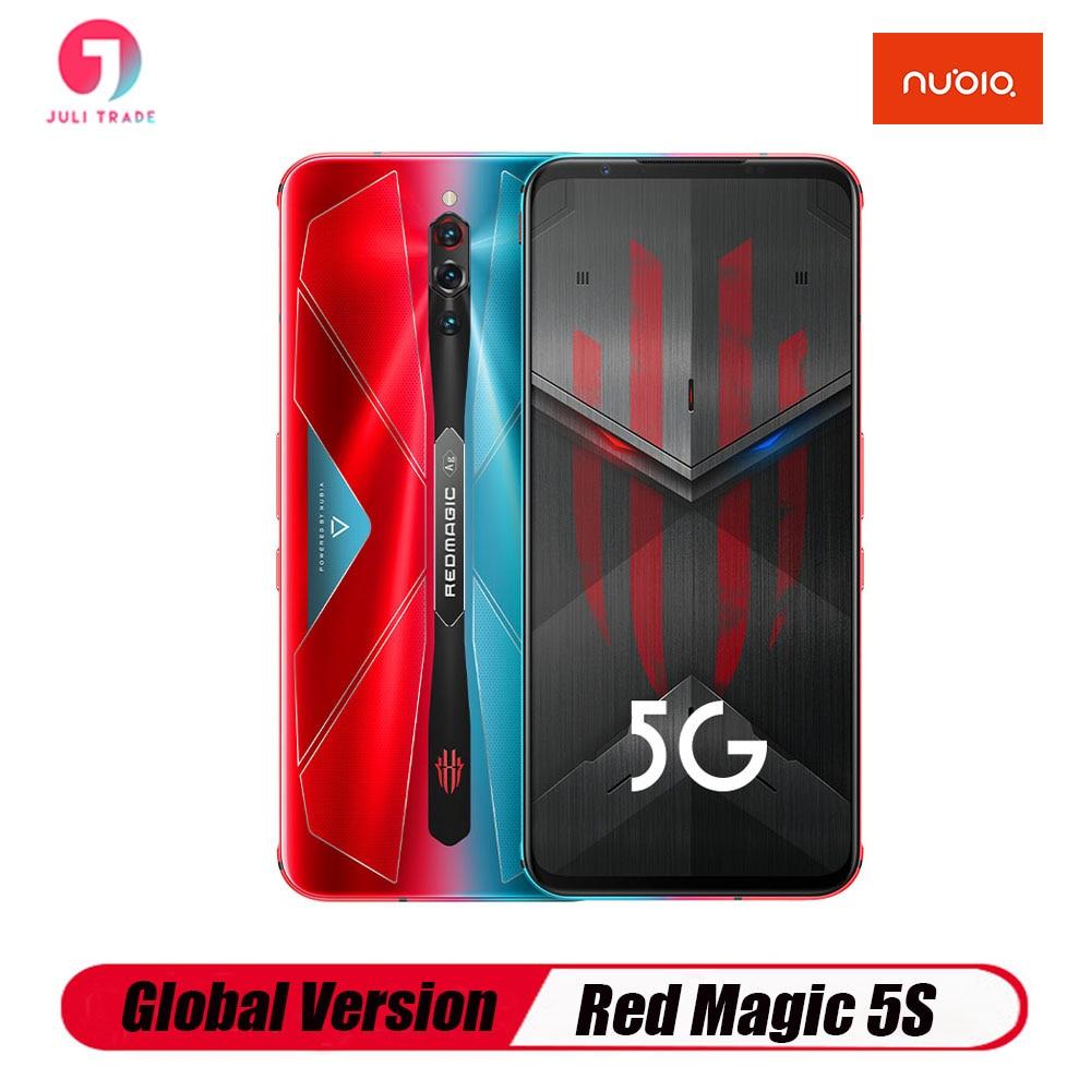 Глобальная версия Nubia красный Магия 5S игровой телефон Snapdragon 865 5G 6,65 дюймбыстрая зарядка NFC отпечатков пальцев Тип-C 3,5 мм Jack