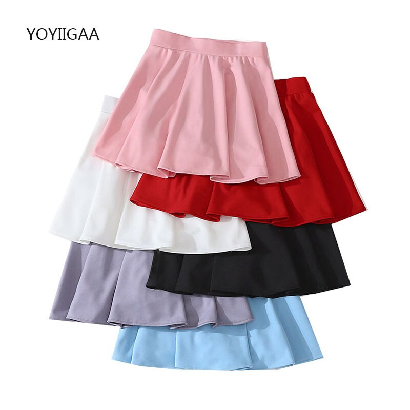 Harajuku Women Skirts Summer High Waist Female Pleated Skirts Casual Kawaii Women's Mini Skirt Preppy Style Ladies Dance Skirt