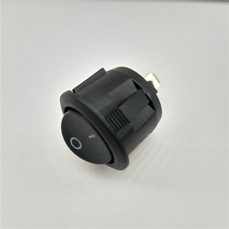 16 мм Диаметр маленький круглый катер Кулисные Переключатели черный Мини Круглый черный белый красный 2-контактный ВКЛ-ВЫКЛ кулисный переключатель