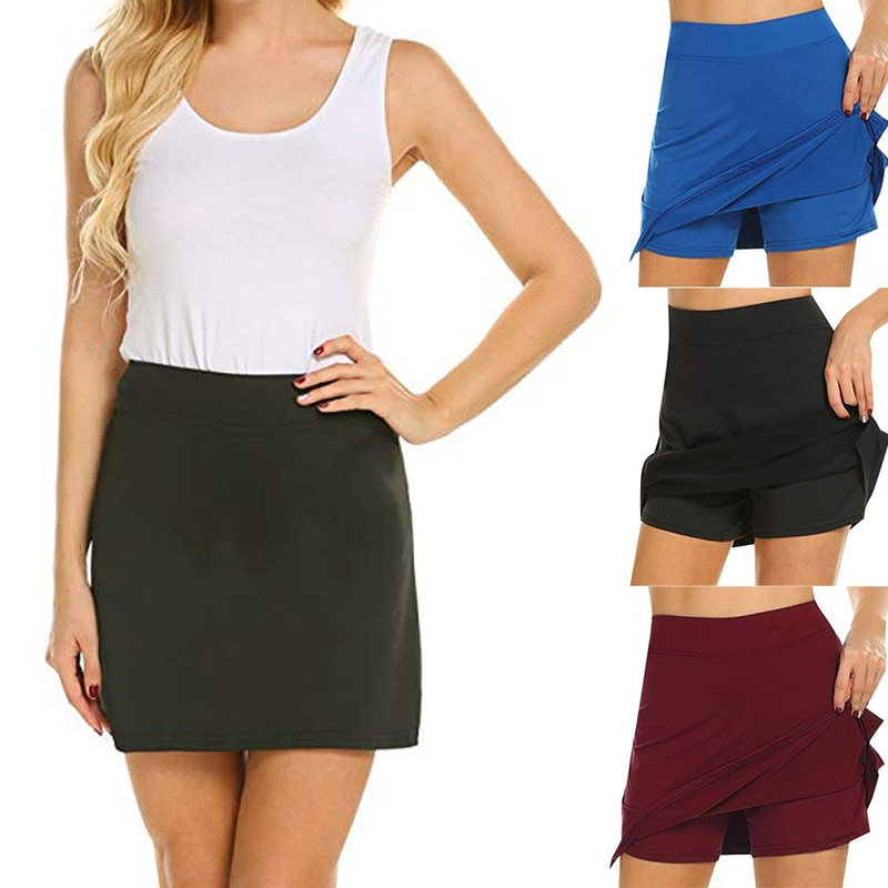 Anti-Chafing Active Skorts Super Soft Comfortable Women's Athletic Lightweight Skirts With Shorts Pockets Running Tennis TT@88