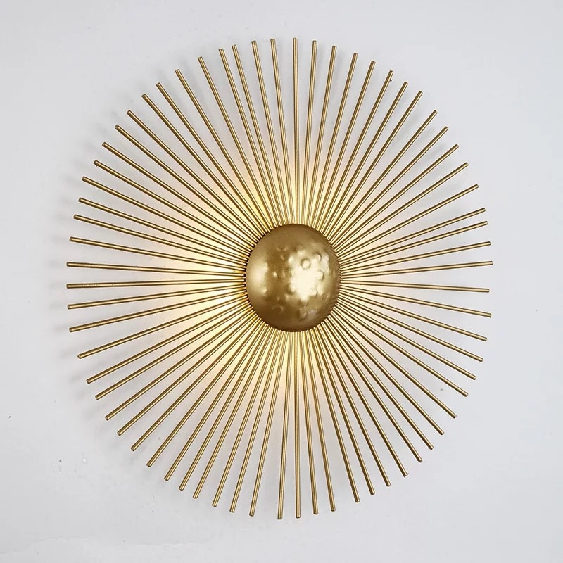 Unique Circular Metal Led Wall Light Foyer Dining Room Bedside Wall Lamp Retro Home Deco Light Fixtures Art Design Free Shipping enlarge