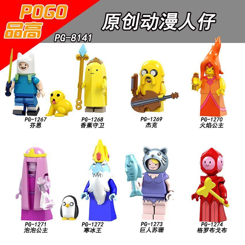 Набор строительных блоков время приключений куклы Финн банан гвардии Джек пламя Принцесса Коллекция строительные детские игрушки голова п...