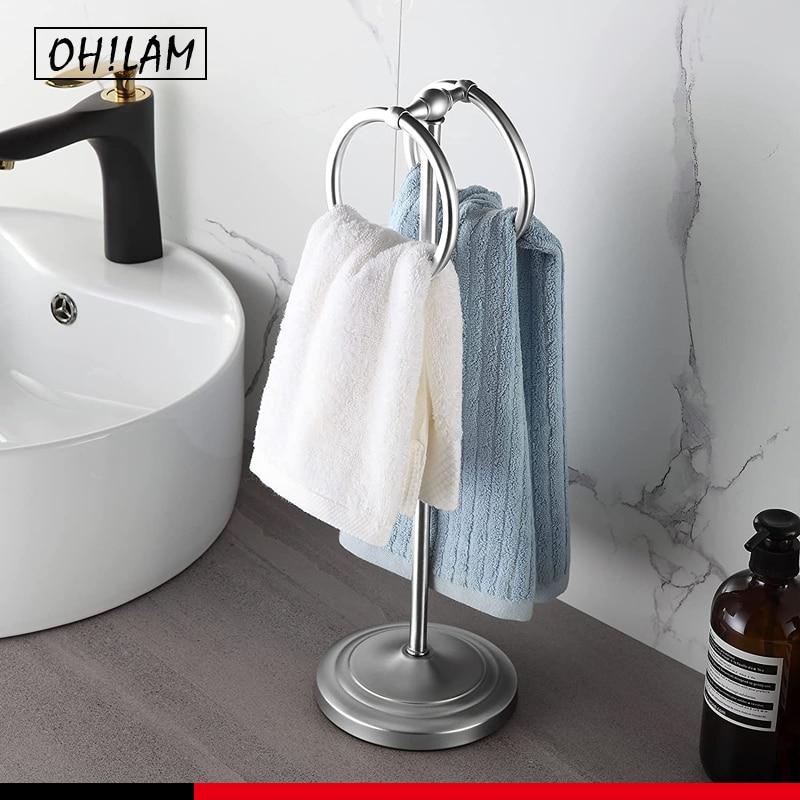 الثقيلة الوزن الكلاسيكية الزخرفية المعادن الإصبع منشفة حامل حامل للحمام ، المطبخ ، الغرور و كونترتوب منشفة خواتم